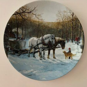Maple Sugar Season by Persis Weirs rare Art plate